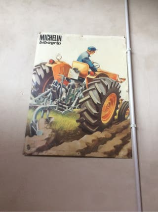 Cartel metalico Michelin