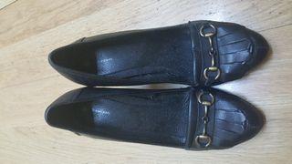 Zapatos mocasin alto (7cm) Talla 38