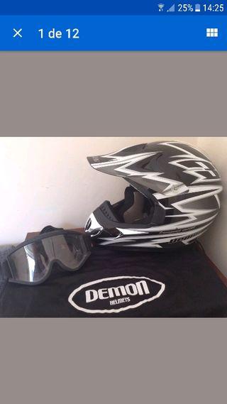 casco cross motocross demon