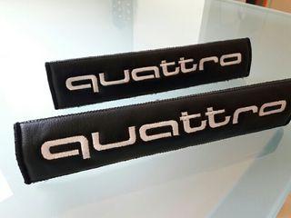 Almohadillas fundas cinturón Audi Quattro en piel