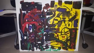 Pintura acrilica en carton