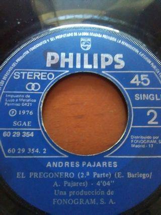 Disco vinilo single Andrés Pajares