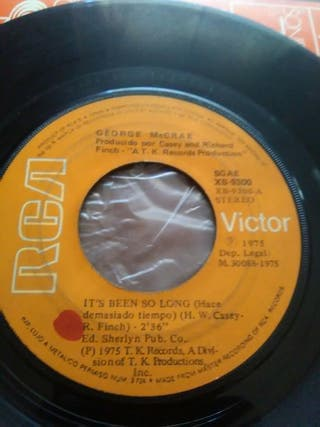 Disco vinilo single George McCrae
