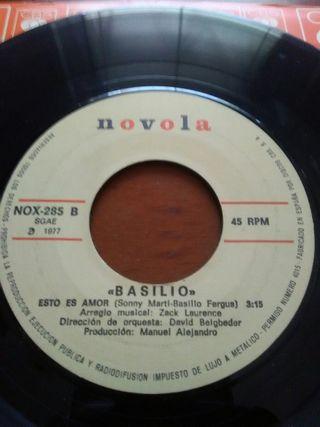 Disco vinilo single Basilio