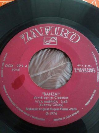 Disco vinilo single Banzai