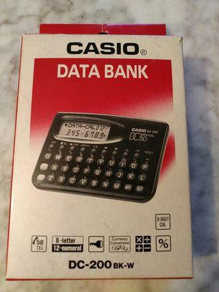 Calculadora CASIO DATA BANK DC-200 BK-W