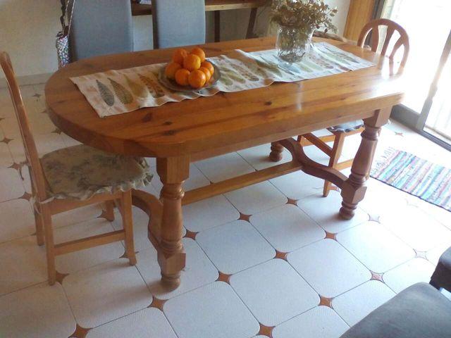 Mesa comedor madera maciza de segunda mano por 210 € en ...