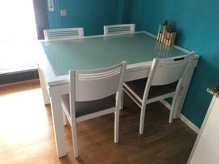 Mesa comedor extensible ¡y sillas de regalo!