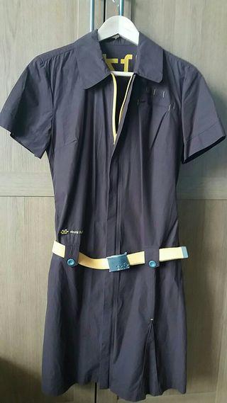 Vestido marron marca Skunkfunk