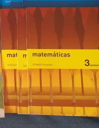 Libros de matemáticas de 3°de primaria