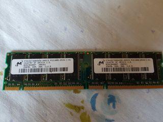 memoria Ram DDR, DDR 2 para Sobremesa y portatil