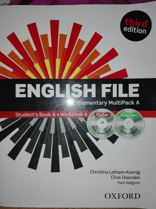 "Libro escolar ""ENGLISH FILE ELEMENTARY MULTIPACK A"