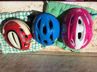 3 Cascos bicicletas