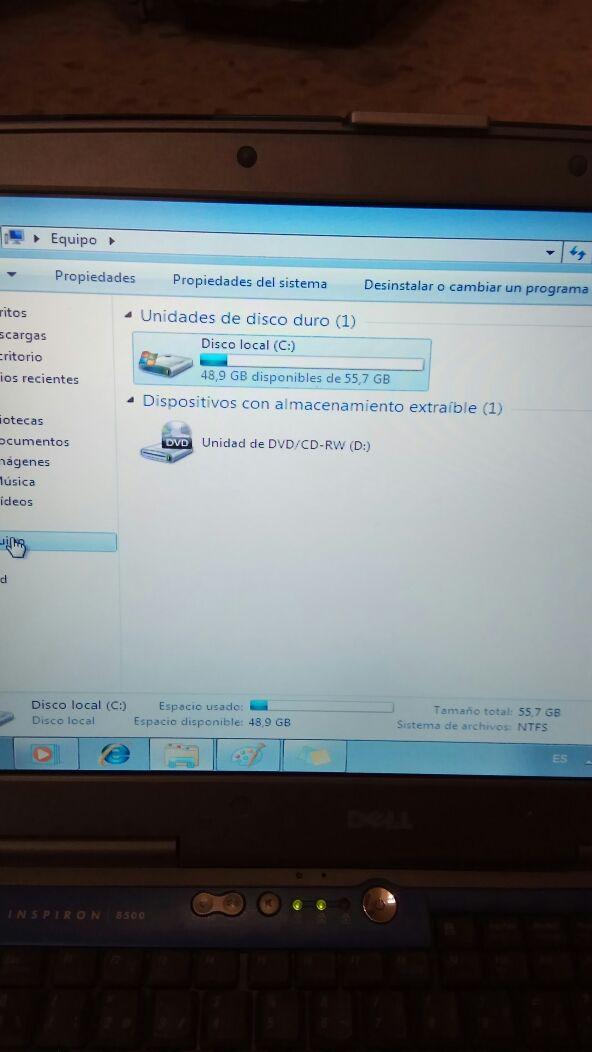 portatil Dell inspiron 8500