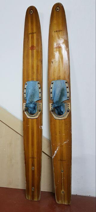 Esquis nauticos antiguos madera Reflex esqui