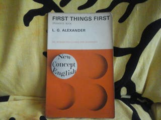 libro de FIRST THIHGS FIRST ( libro de inglés)