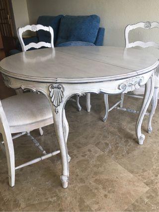 Mesa extensible 3 sillas rebajado de segunda mano por for Wallapop mesas