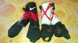 Espinilleras con tobilleras Nike y Adidas