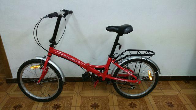 Bicicleta plegable roja