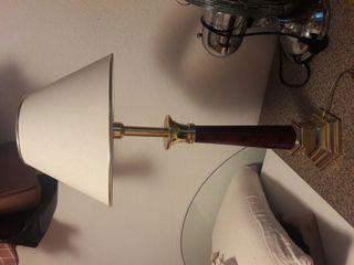 lampara mesa madera