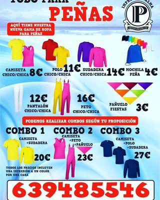 Peña camisetas