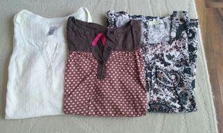 tres blusas talla 10 años niña