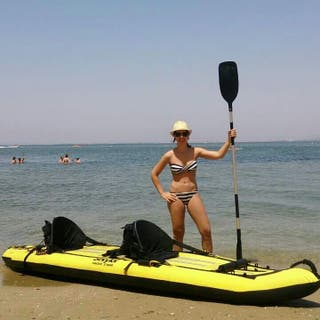 kayak hinchable. piragua. decathlon. un uso