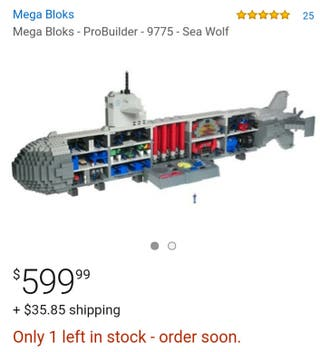 Mega Blocks ProBuilder 9775 Sea Wolf