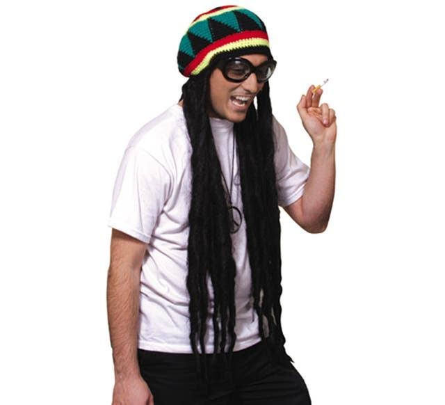 Gorro rasta de Bob Marley disfraz de segunda mano por 12 € en ... 60d643db87e