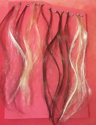 mechones de pelo extensiones 20cm