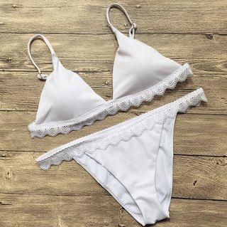 Bikini blanco de encaje