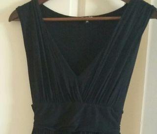 Vestido negro Massimo Dutti