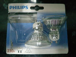 2 Bombillas Halogeno Philips GU10