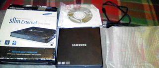 Regrabadora de dvd slim externa marca samsung