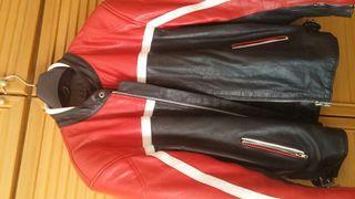 cazadora chaqueta moto piel vintage Cafe racer