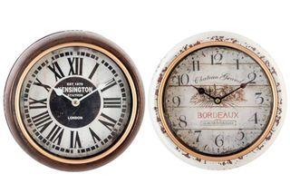 Reloj Pared metal. 24,5X6