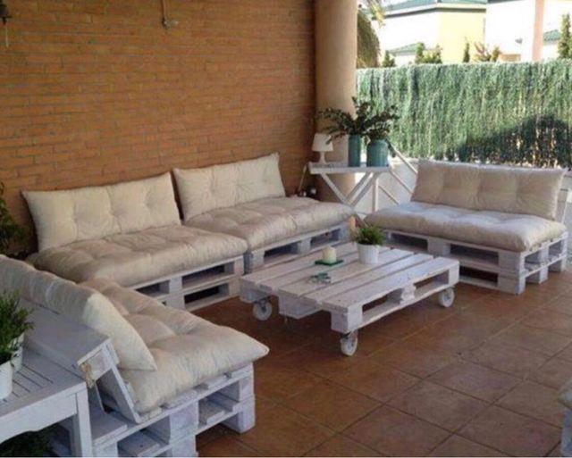 Conjunto interior exterior sofa mesa palet nuevos de for Sofa exterior wallapop