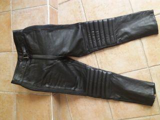 pantalon cuero NZI para moto