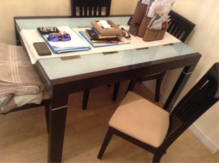 Conjunto mesa comedor y 4 sillas de segunda mano por 200 en santander en wallapop - Wallapop mesa comedor ...
