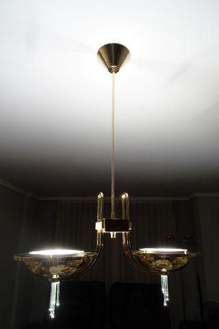 Lámpara de techo + 1 de pié.