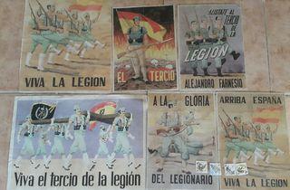 poster y cartillas de la legion