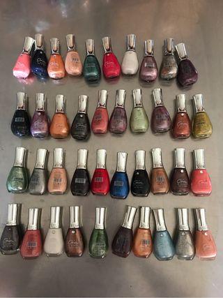 Lote 40 esmaltes de uñas