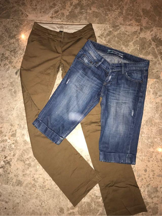 2 Pantalones Talla 34 Mujer De Segunda Mano Por 6 En Playa De Sant Joan En Wallapop