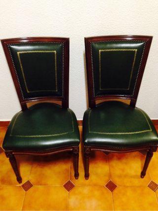 Mesa despacho, sillón y sillas