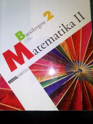 libro matematika 2 batxiller