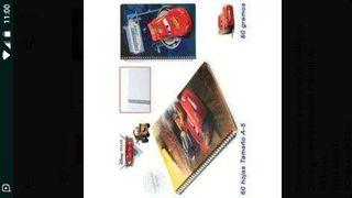 Cuaderno A5 CARS