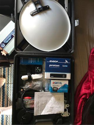 Antena parabólica camion y caravanas