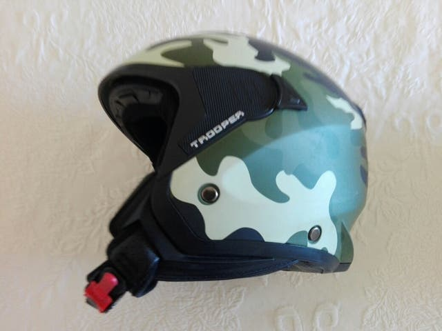 Casco moto camuflage astone
