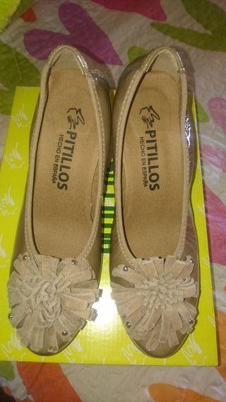 Zapatos tacón de piel, PITILLOS 36