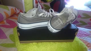 zapatillas converse all star gris 36